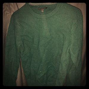 Banana Republic Wool Sweater in  Dark Forest Green
